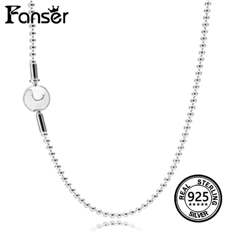 FANSER Necklace Fashion ESSENCE Collection Beaded Silver Has Logo 100% Pure Silver Foundation Chain Factory Wholesale Free Mail