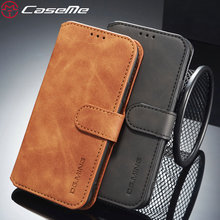 CaseMe Telefoon Case Voor iPhone XS Max Retro Creditcard Geld Slot Flip Cases Voor iPhone 6 s 7 8 plus Schoffels Voor iPhone X XR XS MAX(China)