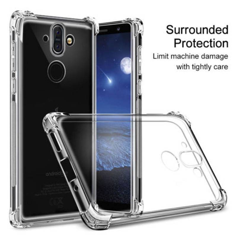 Airbag Shock-Proof Case for Nokia 2 3 5 6 7 8 9 Soft TPU Case Cover for Nokia 8 Dual Sim Full Cover Matte Case for nokia mobile