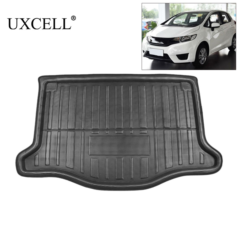 UXCELL PE+EVA foam plastic Black Rear Car Trunk Floor Boot Liner Cargo Mat Floor Tray Carpet for Honda Fit 2016 2017 2018