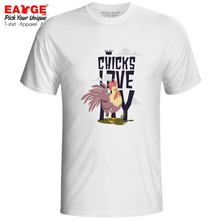 Love My Chicks T Shirt Funny Motto Rock Brand Casual T-shirt Novelty Anime Print Unisex Men Women Tee