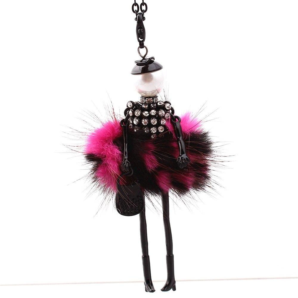 Kobiety naszyjnik z kryształem górskim Piękna sukienka z lalką - Modna biżuteria - Zdjęcie 2