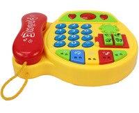 الأطفال الهاتف الهاتف متعدد الوظائف الموسيقى لعبة الطفولة المبكرة لعب اطفال 6-ديسمبر 1-2-3 سنة التعليمي البلاستيك