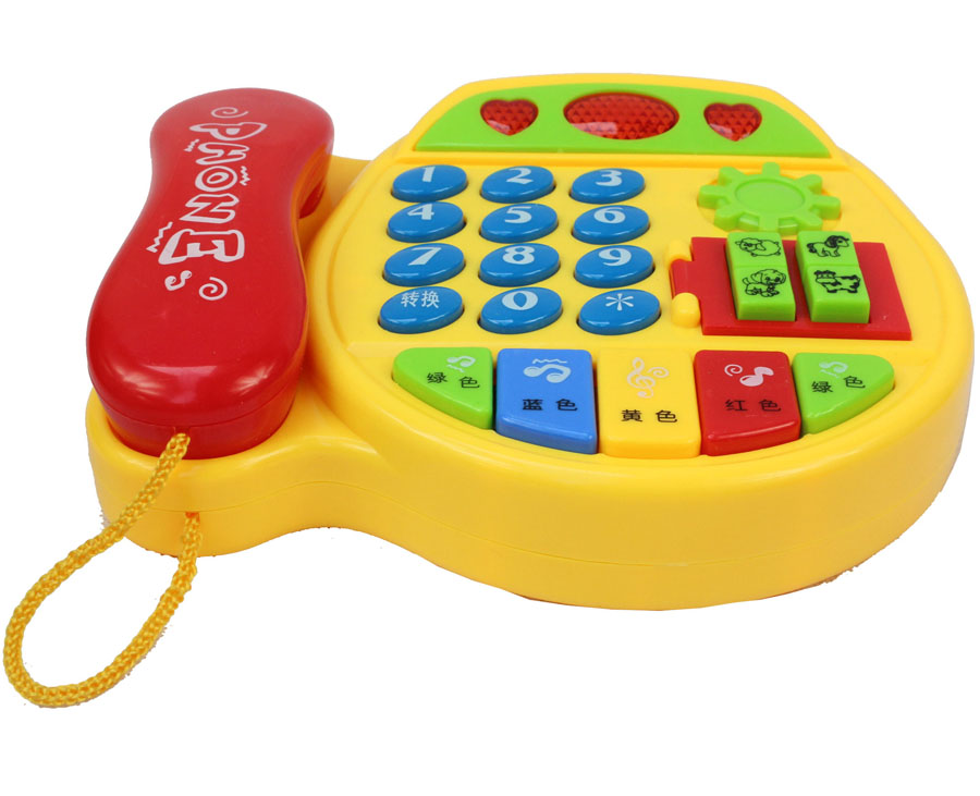 Children's Telephone Early Childhood Toys Baby Phone Multi-function Music Toy 6 - December 1-2-3 Years Old Educational Plastic