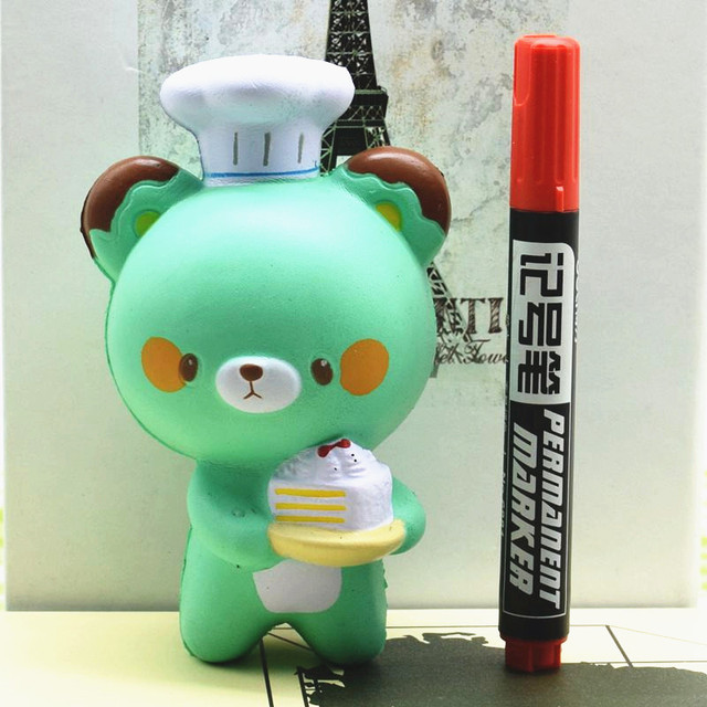 High Quality For Squishy Bear Baker Chef Jumbo 14cm Slow Rising Collection Gift Decor Soft Squeeze