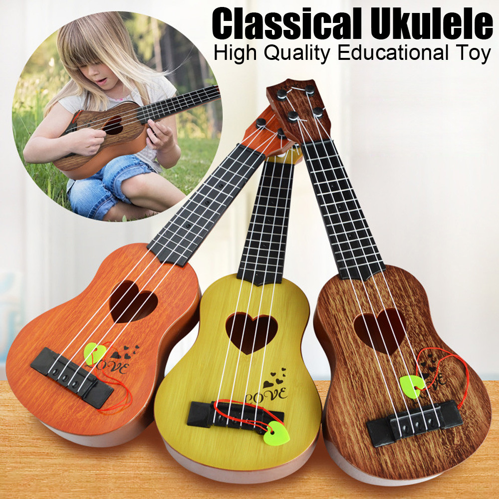 2019 New Year Gift For Children Beginner Classical Ukulele Guitar Educational Musical Instrument Toy For Kids Early Education