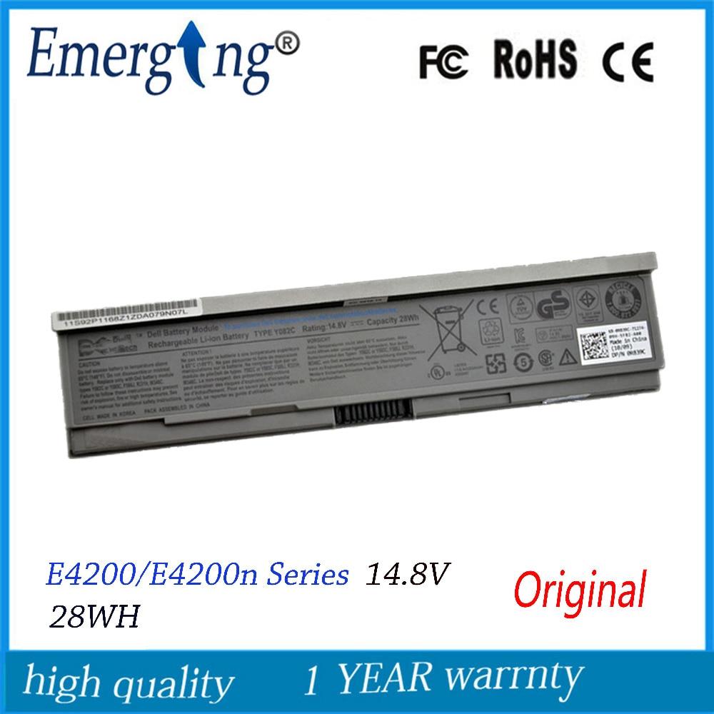 4cells 14.8V 28WH New Original Laptop Battery for Dell E4200 00009 312-0864 451-10644 453-10069 F586J R331H R640C for e4200 desktop case 4200 f126f cn 0f126f new original