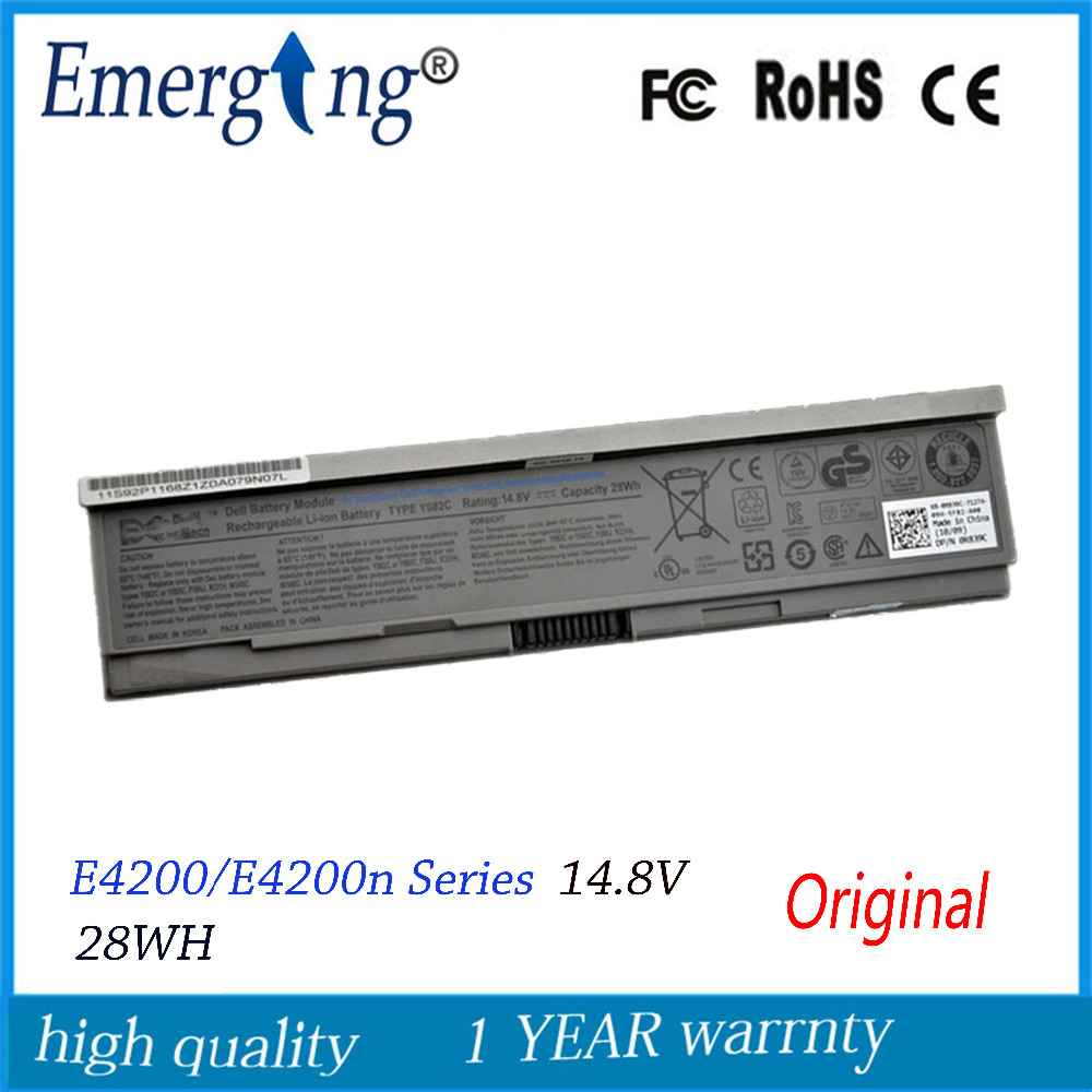 4cells 14.8V 28WH New Original Laptop <font><b>Battery</b></font> for Dell <font><b>E4200</b></font> 00009 312-0864 451-10644 453-10069 F586J R331H R640C image