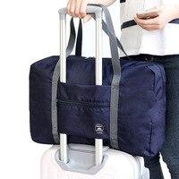 Mode falten kleidung schuhe Gepäck lagerung tasche Tragbare nylon reisetasche Männer und frauen große kapazität wasserdichte schulter tasche