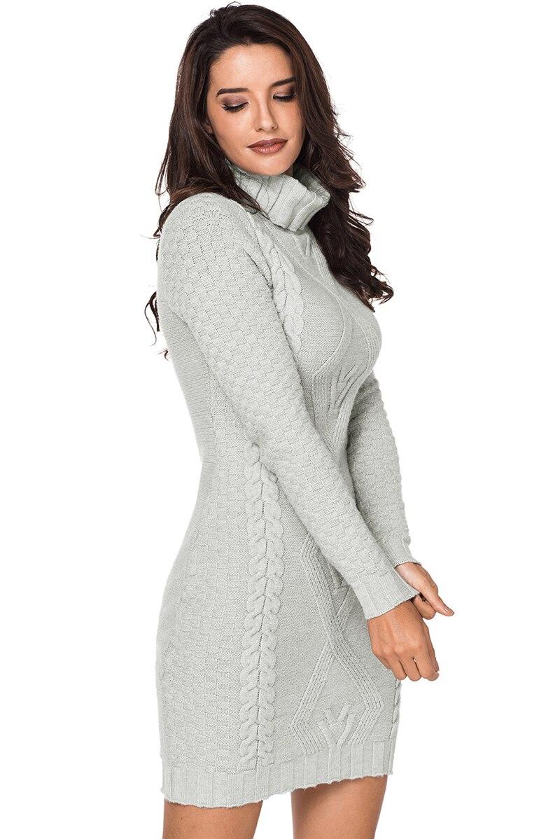 Grey-Stylish-Pattern-Knit-Turtleneck-Sweater-Dress-LC27867-11-3