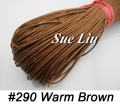 1mm 80M/pcs Warm Brown Waxed Cotton Cord Wax Bead String NCK10, 87yds=80m=260ft