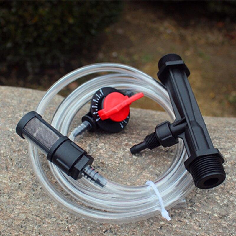1 polegadas Misturador Venturi Fertilizantes Injector Kit Injetar Solúvel ou Fertilizante Líquido com efeito de Estufa Sistema de Rega Paisagem