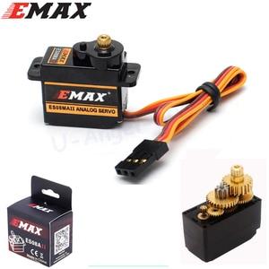 Image 3 - 4 pièces/lot EMAX ES08MA II Mini engrenage métallique Servo analogique 12g/ 2.0kg/ 0.12 Sec Mg90S