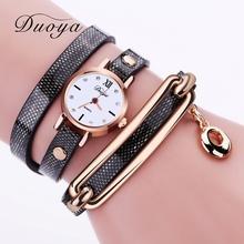 Duoya Brand Watches Women Gold Vintage 2017 New Luxury Women Bracelet Watch Dress Female Electronic Quartz Wristwatch XR1858