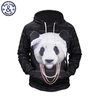 Mr BaoLong Newest Hip Hop Design Necklace Panda Printed 3D Hoodies Men Fashion Youth Hooded Sweatshirts