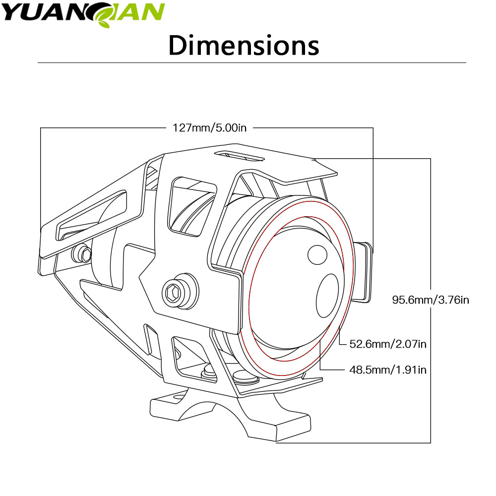 Led Headlight Waterproof Driving Spot Head Lamp Fog Light Switch For Dimmer Wiringdimmerswitchsketch1jpg Yamaha Mt09 Mt 09 Tracer Xj6 Fjr Xjr 1300 Tmax 530 500 R1 On Alibaba