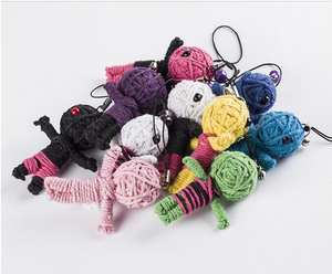 FoPcc 4pcs Style Keychains little voodoo dolls Accessories