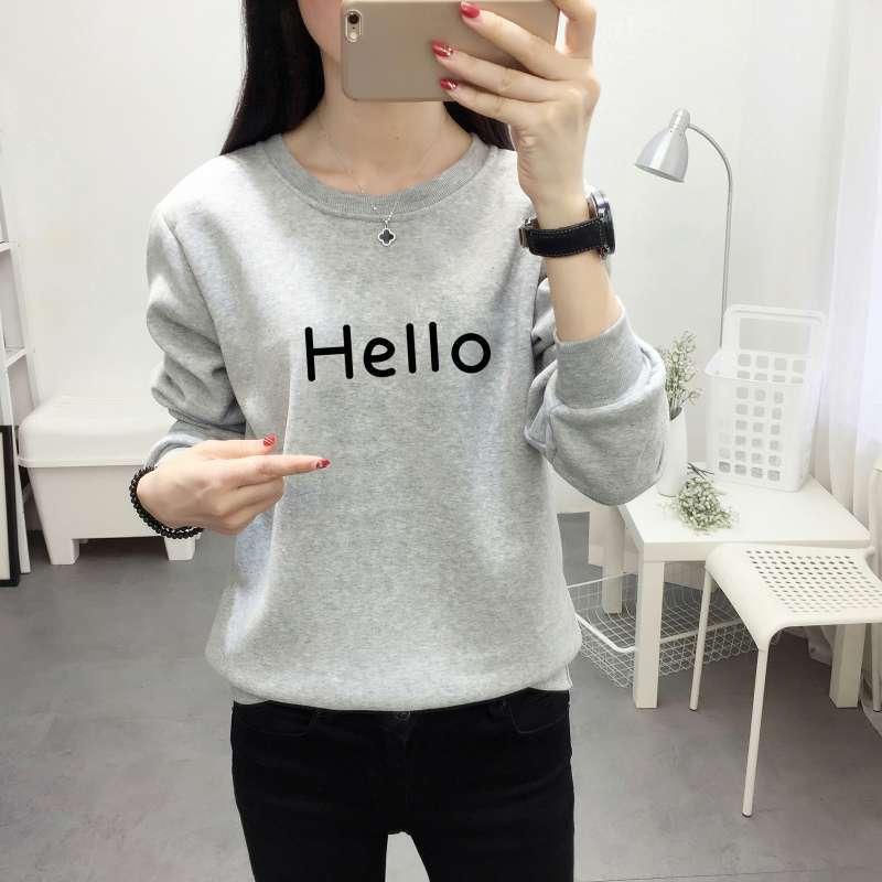 2018 Spring Autumn Long Sleeve Ladies Casual Sporty Pullovers Sweatshirt versatile long sleeved