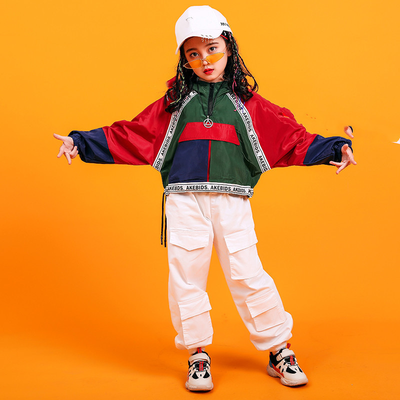 Image 2 - Jazz Hiphop Dance Costume Stage Competition Korean Style Hip Hop Clothes Children Pop Street Dance Wear Suit for Kids Boys GirlsClothing Sets   -