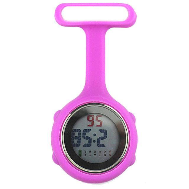 1Pc Digital Display Dial Clip-On Fob Nurse Brooch Pin Hang Pocket Electric Watch