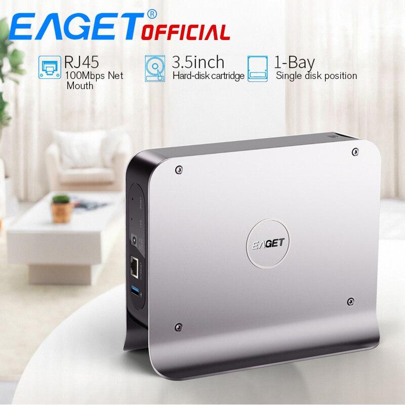 EAGET 3. inch 1-BAY Smart Network Cloud Storage Мобильный жесткий диск окно SATA USB3.0 Шифрование частное облако сетевой диск жесткий Y300