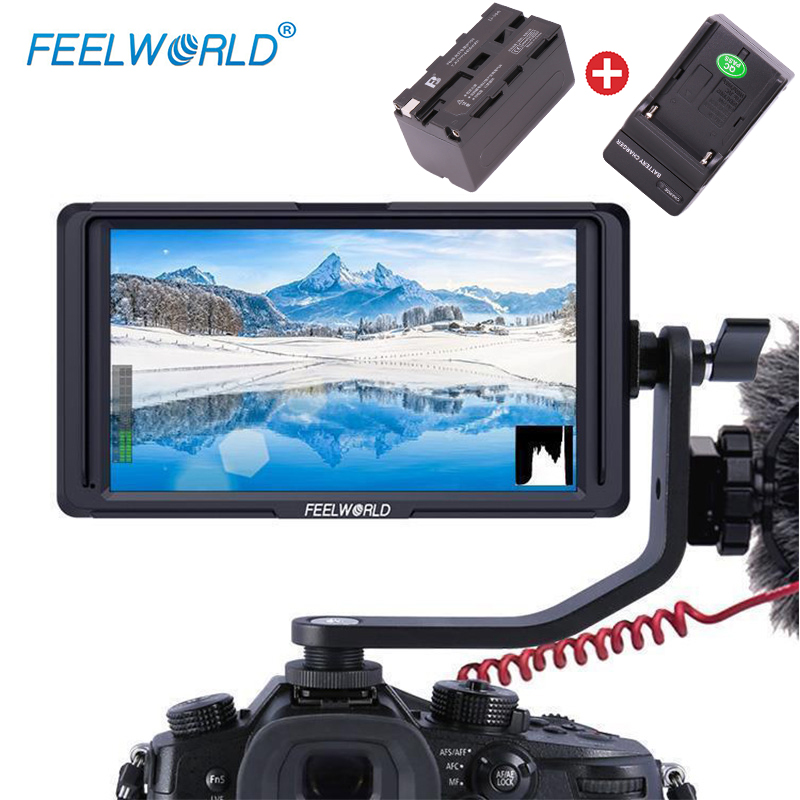 Feelworld 5 F6S 4K HDMI Field Monitor Full HD with Battery Kit On Camera for Nikon Canon Weebill LAB DJI Ronin S Moza Air 2Feelworld 5 F6S 4K HDMI Field Monitor Full HD with Battery Kit On Camera for Nikon Canon Weebill LAB DJI Ronin S Moza Air 2