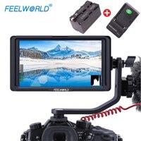 Feelworld 5 F6S 4K HDMI Field Monitor Full HD with Battery Kit On Camera for Nikon Canon Weebill LAB DJI Ronin S Moza Air 2
