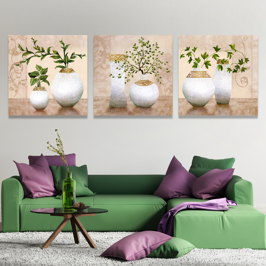 Buy picture modular modern 3 living room wall decor art painting on canvas decoration oil paintings decorative pictures flowers for $5.23 in AliExpress store