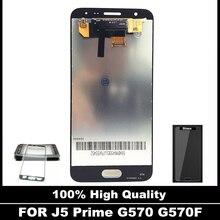 Alta Calidad LCD Para Samsung Galaxy J5 Primer G570 G570F G570K G570L Pantalla LCD Táctil Digitalizador Asamblea de Cristal Etiqueta