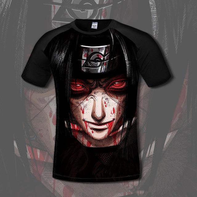 Naruto High Quality Summer Short Sleeve 3d T-Shirt men