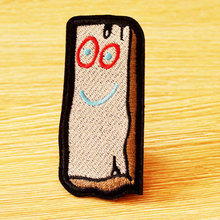 Wood Brick Cartoon Patch Embroidered  Patches For Clothing Iron On Clothes Anime DIY Sewing Apparel Accessories