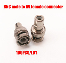 Free shipping 100PCS/Lot BNC Male to RCA Female Adapter kit for CCTV/DVR/AV Devices Accessories