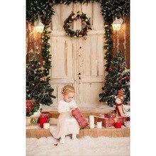 Fotografia vinil pano de Fundo árvore de Natal caixa de Presente Galeria família Backdrops para Estúdio de Fotografia do bebê