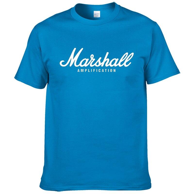 100% cotton Marshall T Shirt men short sleeves tee hip hop street wear for fans hipster 53