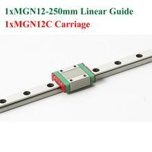 Новый Длина 250 мм Железнодорожных MGN12 12 мм Линейная Направляющая С MGN12C Перевозки Чпу 3D Принтер