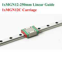New MGN12 12mm Linear Rail Guide Length 250mm Rail With MGN12C Carriage Cnc Parts 3D Printer