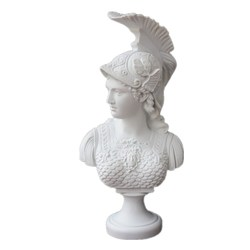 Athena Roman Goddess of Wisdom: Bonded Marble Figure Sculpture Design Toscano Minerva Bust Resin Crafts Home Decoration R06