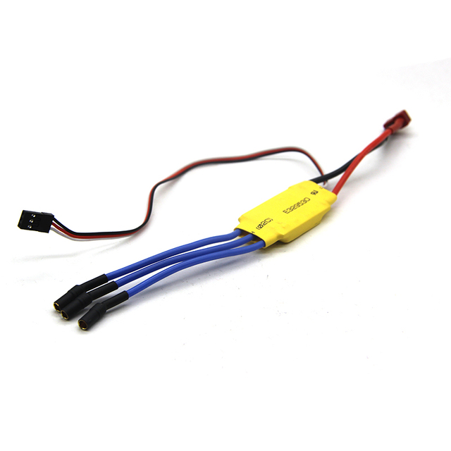 free shipping xxd 30a brushless rc bec brushless motor speed controller  with rubber head helicopter boat airplanes parts