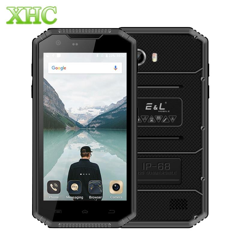 KXD E & L W7S Android 6.0 téléphone Mobile 2 GB 16 GB IP68 étanche aux chocs anti-poussière 5.0 pouces MTK6737 Quad Core Smartphone double SIM