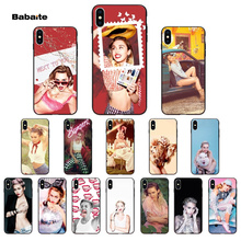 For iphone 11 Miley Cyrus  TPU Soft Silicone Phone Case Cover for Apple iPhone 8 7 6 6S Plus X XS MAX 5 5S SE XR Cellphones