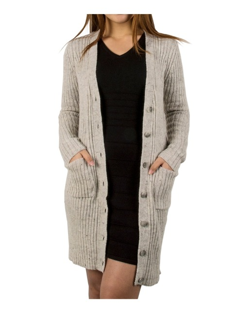 2016 Spring Autumn New Women Long Style Cozy V-Neck Cardigan Sweater Single-Breasted Coat Slim Dress