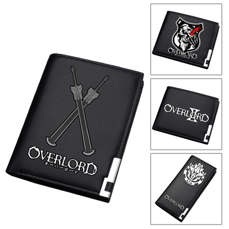2019 NEW Fantasy Adventure Anime Overlord Men Short Wallet Pu Leather Long Purse Fashion Card Holder Student Money Bags