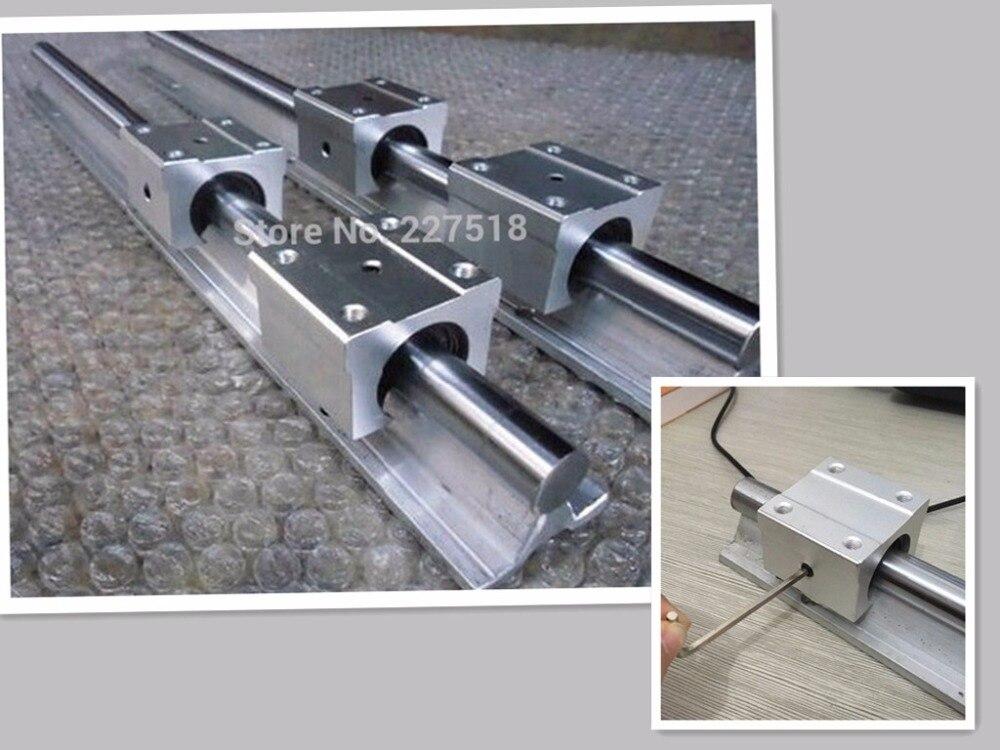 12 мм линейный рельс SBR12 1000 мм 4 шт. и 8 шт. SBR12UU линейный подшипник блоки для ЧПУ частей 12 мм линейный руководство