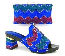 Artikel-nr. DF16-101-BLUE NEUE Italienische Frau Passende Schuh-Und Taschensatz, Freies Verschiffen Italienische Hochzeit Schuhe Und Passende taschen Sätze