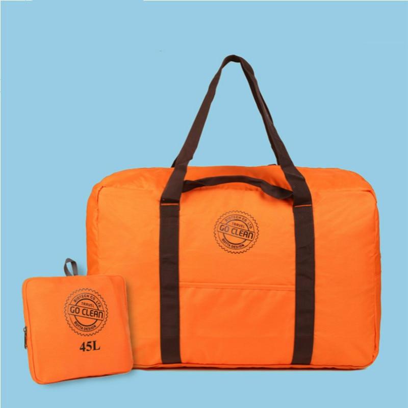 New Style 2016 Fashion Travel Bag Large Capacity Women Oxford Folding Bags Women Luggage Waterproof Travel Duffle Handbags  45L