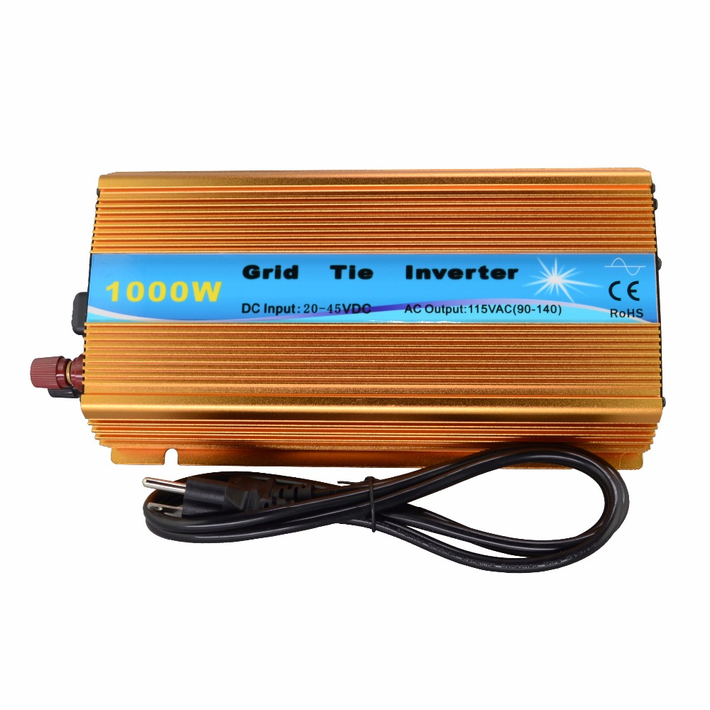 1000W Grid tie micro inverter DC20V~45V to AC120V(90V-140V) pure sine wave inverter for solar panel MPPT mini power on grid tie solar panel inverter with mppt function led output pure sine wave 600w 600watts micro inverter