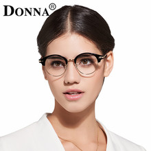 Donna Classic Retro Clear Lens Nerd Frames Glasses Fashion brand designer Men Women Eyeglasses Vintage Half Metal Eyewear