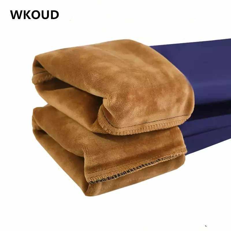 WKOUD Office Lady Potlood Broek Winter Warme Broek Hoge Taille Stretch Broek Vrouwen Casual Dikke Skinny Fitness Leggings P8669