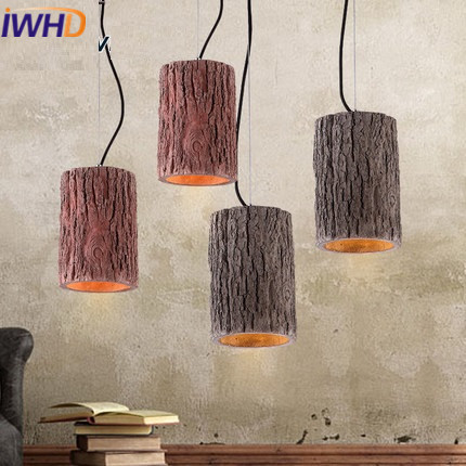 IWHD Cement Vintage Lamp Loft Industrial Pendant Lights Retro Hanging Light Fixtures Kitchen Luminaire Home Lighting Lustre iwhd loft retro led pendant lights industrial vintage iron hanging lamp stair bar light fixture home lighting hanglamp lustre