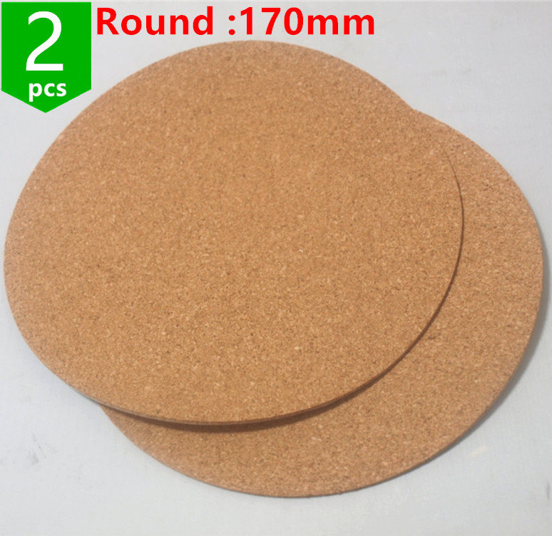 2pcs* Kossel 170mm round cork insulation sheets for KosselDelta 3D Printer Heatbed Bed Hot Plate Issulation Cork sheet